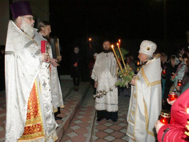 В Троекуровском Свято-Димитриевском Иларионовском женском монастыре состоялось Пасхальное богослужение