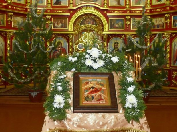 Рождество Христово в Троекуровском монастыре
